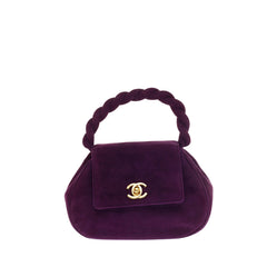 Chanel Twisted Top Handle CC Bag Suede