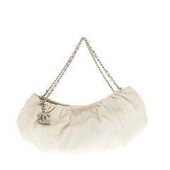 Chanel Pleated Chain Hobo Python Small