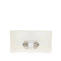 Judith Leiber Embellished Evening Bag Python