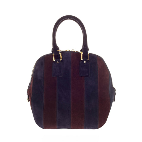 f052340ea8f5 Buy Burberry Orchard Bag Striped Suede Medium Navy-And-Plum 143401 – Rebag