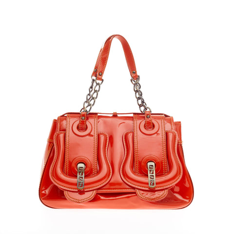 1e047e9315 Buy Fendi B. Bag Patent Medium Red-Orange 150303 – Rebag