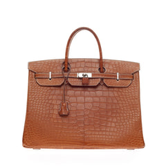 Hermes Birkin Fauve Barenia Alligator with Palladium Hardware 40