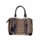 Fendi Boston Zucca Canvas Medium