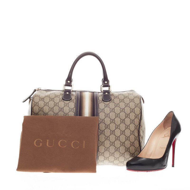 5183667d51a Buy Gucci Joy Boston Bag GG Coated Canvas with Leather Medium 163401 ...