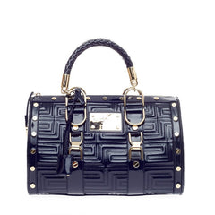 Versace Snap Out Of It Bag Quilted Patent Medium