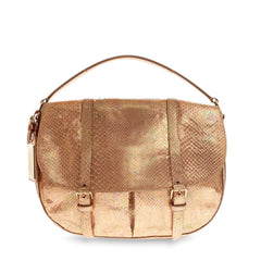 Ralph Lauren Double Belted Messenger Metallic Python