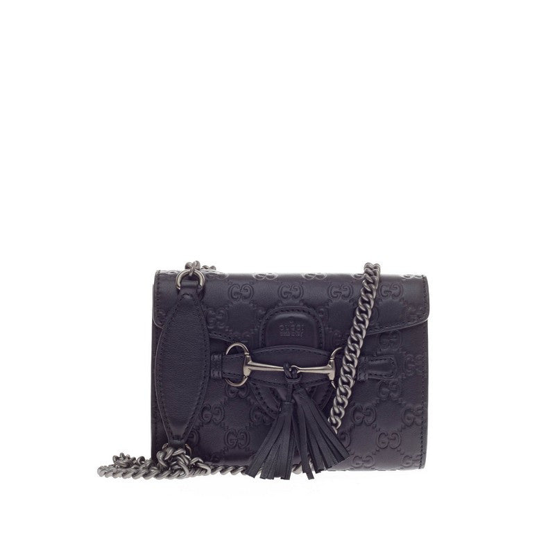 ff2043af4b5523 Buy Gucci Emily Chain Strap Flap Bag Guccissima Leather Mini 173401 ...
