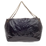 Chanel Rock and Chain Flap Bag Patent Extra Large