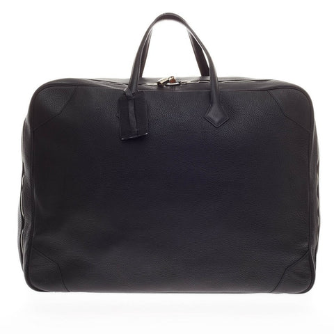 c41421911ed1 Buy Hermes Victoria II Travel Bag Clemence 50 Black 173902 – Rebag