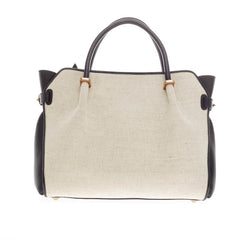 Nina Ricci Le Marche Satchel Canvas and Leather