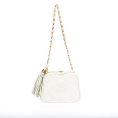 Chanel Vintage Chain Tassel Bag Lizard