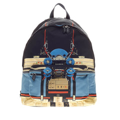 Givenchy Abstract Backpack Robot Print Canvas