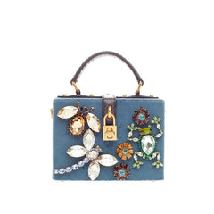 Dolce & Gabbana Treasure Box Bag Embellished Velvet Mini