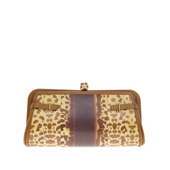 Alexander McQueen Reversible Skull Clutch Leather and Watersnake