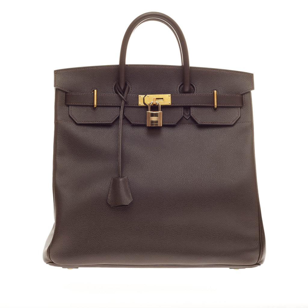cheap hermes bags sale - Hermes Birkin HAC Ebene Vache Liegee with Gold Hardware 40 - Trendlee