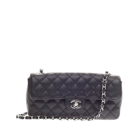371c554e42a6 Buy Chanel Classic Single Flap Bag Caviar East West Black 182301 – Rebag