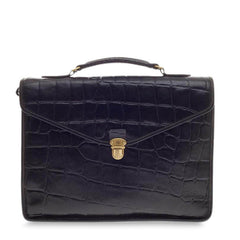 Mulberry Ethan Briefcase Embossed Crocodile -