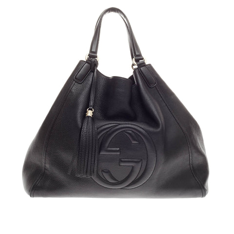 c5088b9fa0a Buy Gucci Soho Shoulder Bag Leather Large Black 187201 – Rebag