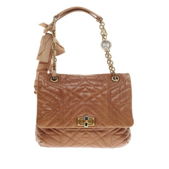 Lanvin Happy Shoulder Bag Quilted Leather Medium