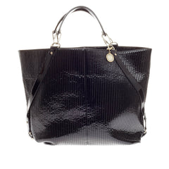 Lanvin Quilted Chain Tote Patent Extra Large
