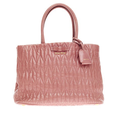 Miu Miu Satchel Matelasse Leather Medium