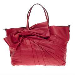 Valentino Bow Shopper Tote Nappa Leather Large