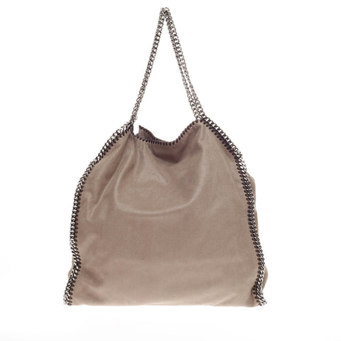 6cd30fb5bc0b Buy Stella McCartney Falabella Tote Faux Leather Large Taupe 203901 – Rebag