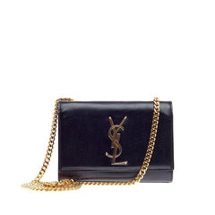Saint Laurent / Yves Saint Laurent Classic Monogram Crossbody Grainy Patent Leather Small