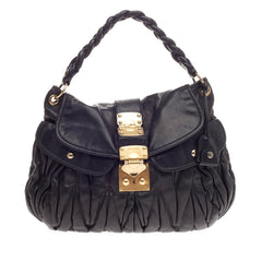 Miu Miu Coffer Hobo Matelasse Leather