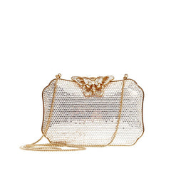 Judith Leiber Butterfly Closure Minaudiere Crystal Small