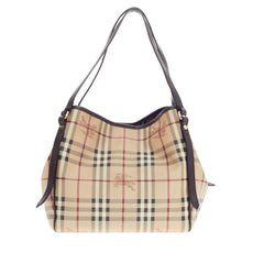 Burberry Canterbury Tote Haymarket Coated Canvas Small