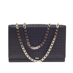 Victoria Beckham Hexagonal Chain Flap Bag Perforated Leather