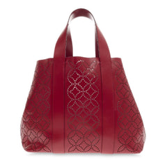 Alaia Side Snap Tote Arabesque Laser Cut Leather
