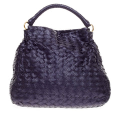 Miu Miu Hobo Woven Leather Large