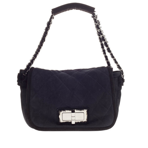 b726afed1eedd6 Buy Chanel Reissue Flap Bag Shearling and Suede Black 220204 – Rebag