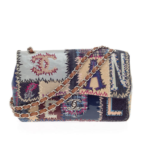f5a326ad80d1 Buy Chanel Classic Flap Bag Multicolor Patchwork Jumbo Brown 220801 – Rebag