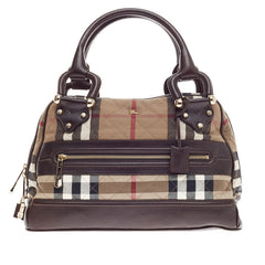 Burberry Westbury Bag Quilted Nova Check Canvas