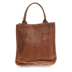 Nancy Gonzalez Feather Tote Crocodile -