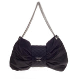 Chanel Bow Bag Satin Large