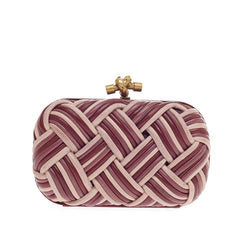 Bottega Veneta Box Knot Clutch Plaited Leather Small