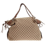 Gucci Bamboo Bar Shoulder Bag GG Canvas Large