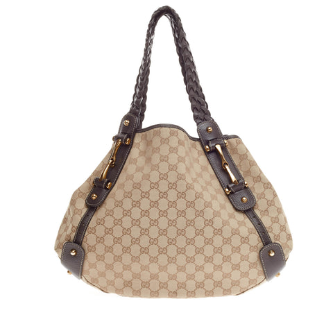 6c88811789fe Buy Gucci Pelham Shoulder Bag GG Canvas Medium Brown 250301 – Rebag