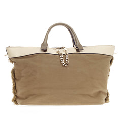 Chloe Baylee Satchel Canvas and Leather Medium