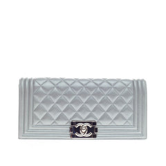 Chanel Boy Flap Clutch Quilted Calfskin Small
