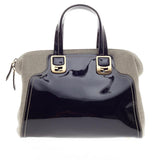 Fendi Chameleon Satchel Patent Leather and Canvas Small