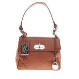 Ralph Lauren Tiffin Convertible Satchel Calfskin Small