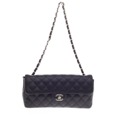 fee96cea3bc3 Buy Chanel Classic Single Flap Bag Caviar East West Black 272401 – Rebag