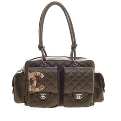 Chanel Cambon Multipocket Reporter Quilted Lambskin Large