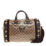 Gucci Babouska Boston GG Coated Canvas Large