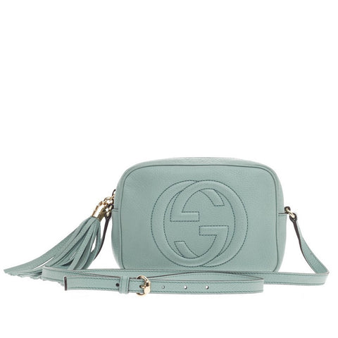 dee3b6c9893daf Buy Gucci Soho Disco Crossbody Leather Small Teal 287301 – Rebag
